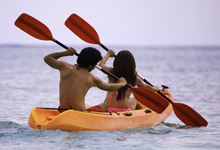 two people on a kayak